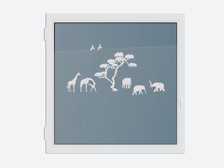 Decorative Window Film safari