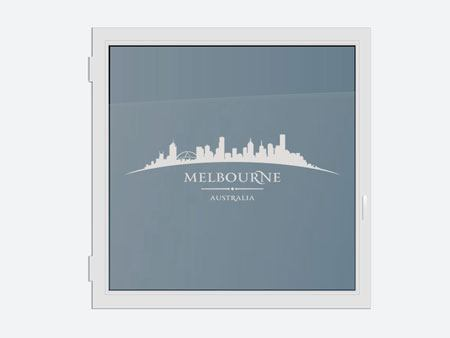 Decorative Window Film Skyline Melbourne