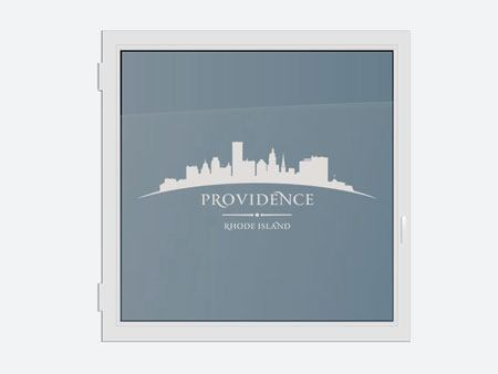 Decorative Window Film Skyline Rhode Island