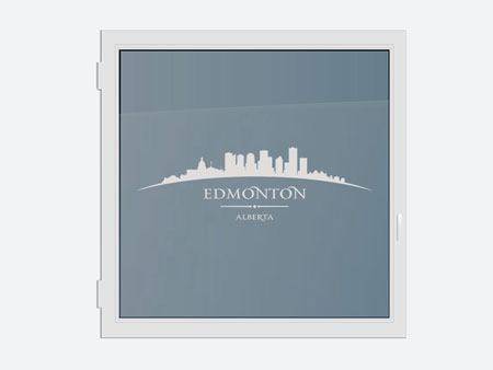 Decorative Window Film Skyline Edmonton