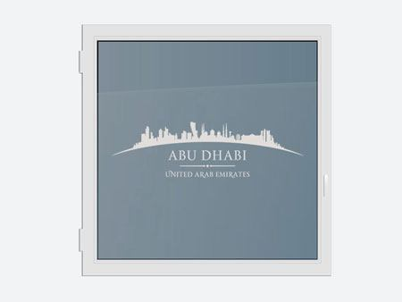 Decorative Window Film Skyline Abu Dhabi