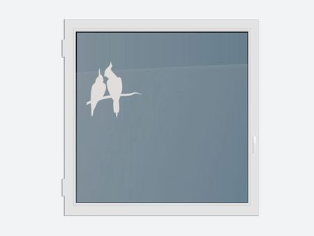 Decorative Window Film parrot couple