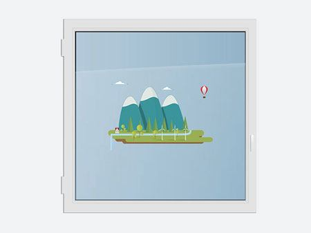 Window Sticker Sweet mountain landscape