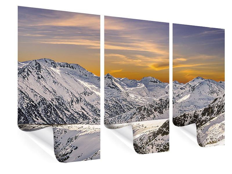 3 Piece Poster Sunset In The Mountains