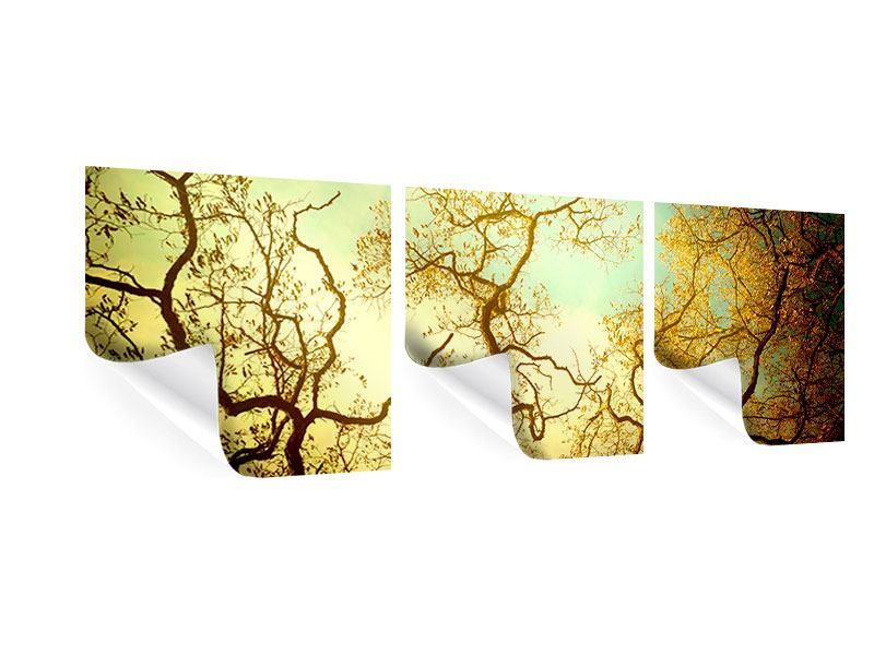Panoramic 3 Piece Poster Autumn Trees