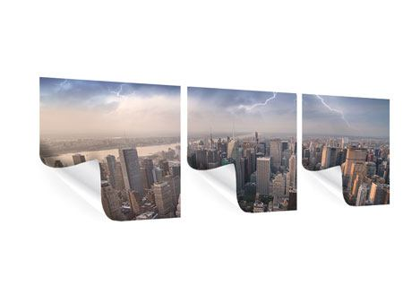Panoramic 3 Piece Poster Manhattan