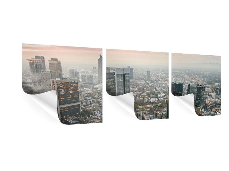 Panoramic 3 Piece Poster Skyline Penthouse In New York