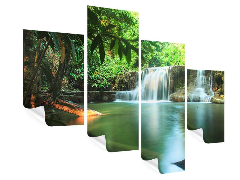Modern 4 Piece Poster Element Water