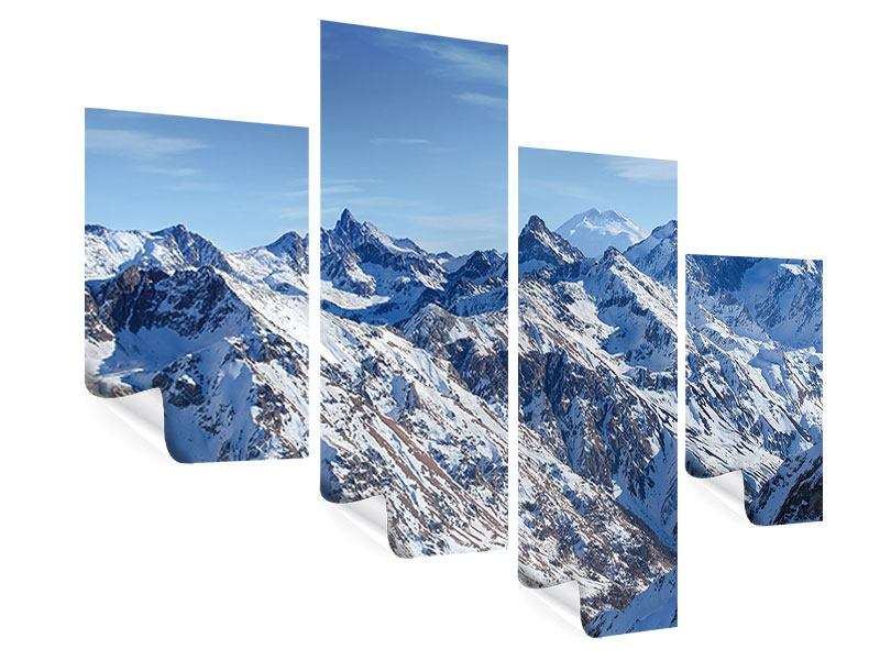 Modern 4 Piece Poster Summit Of The Mountains