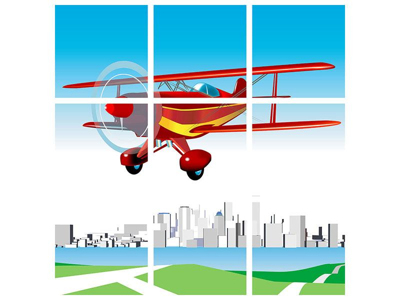 9 Piece Poster Flying Aircraft