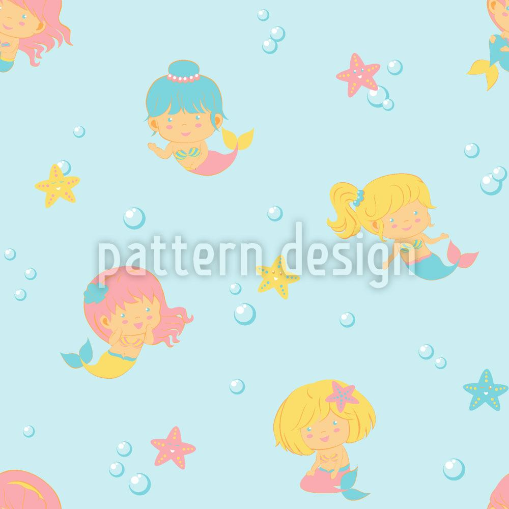Papier peint design Playful Mermaids