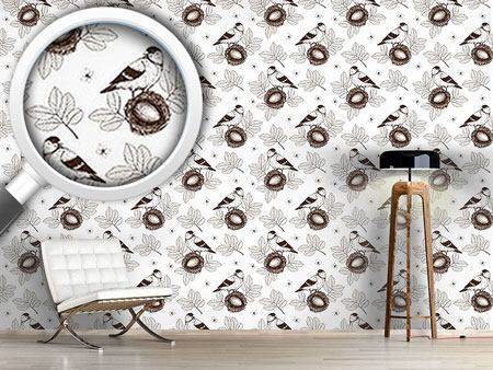 Design Wallpaper Bird In Nest