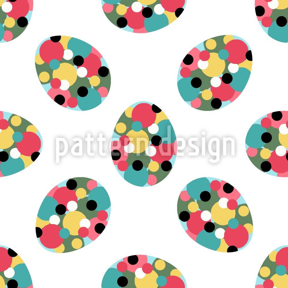 Papier peint design Easter Eggs With Polka Dots