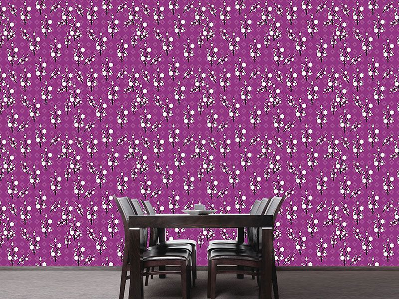Papier peint design Hanami Purple