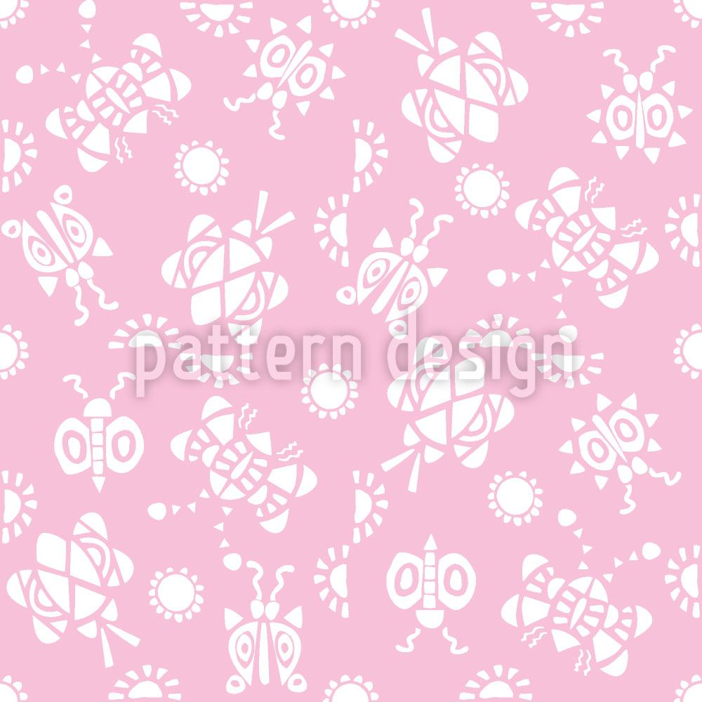 Papel tapiz de diseño Tingle Tangle Pink