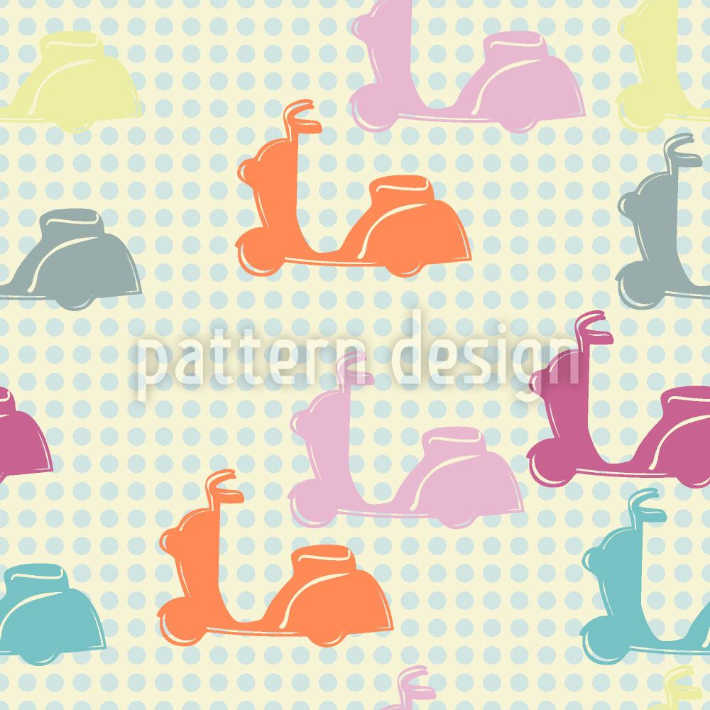 Papel tapiz de diseño Scooter With Dots
