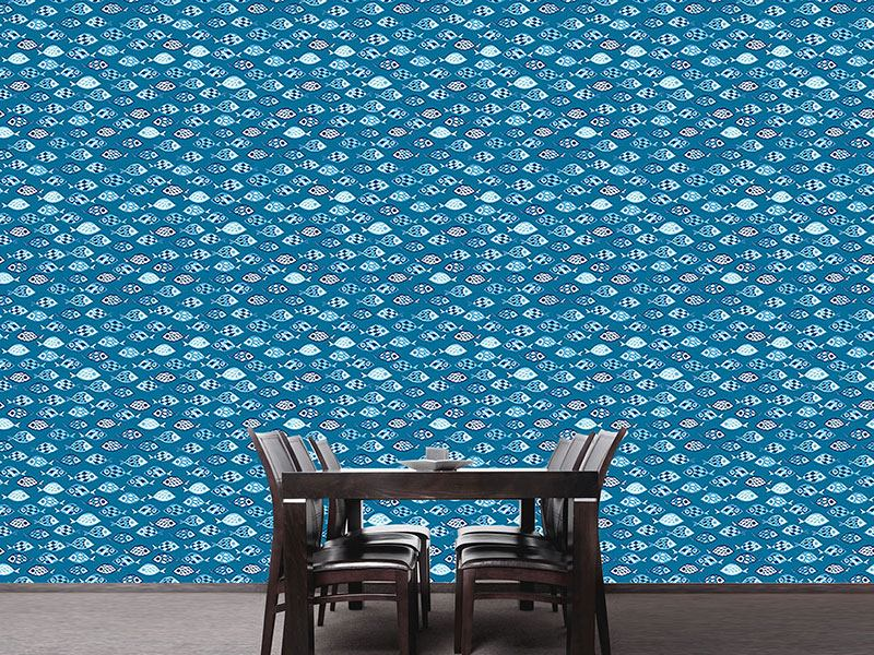 Design Wallpaper Swarms Of Fish Crossover