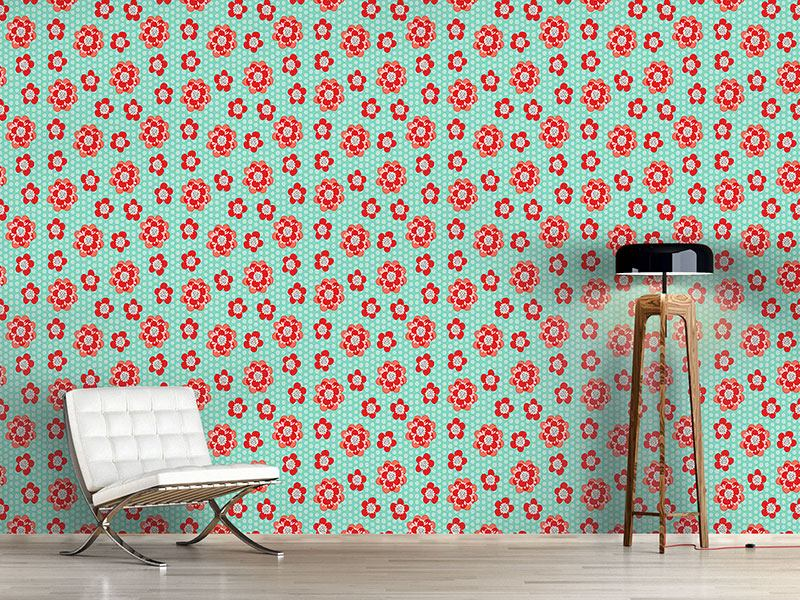 Design Wallpaper Flower Power And Dots
