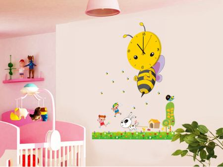 Wall Sticker Bee Clock