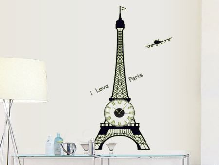 Wall Sticker Eiffelturm Clock