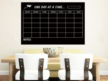 Wall Sticker Chalkboard Monthly Planer