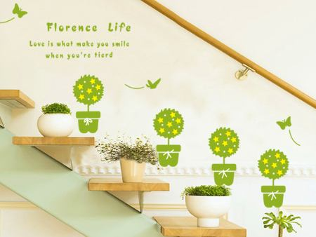 Wall Sticker Green Sapling