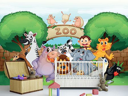 Photo Wallpaper Funny Zoo