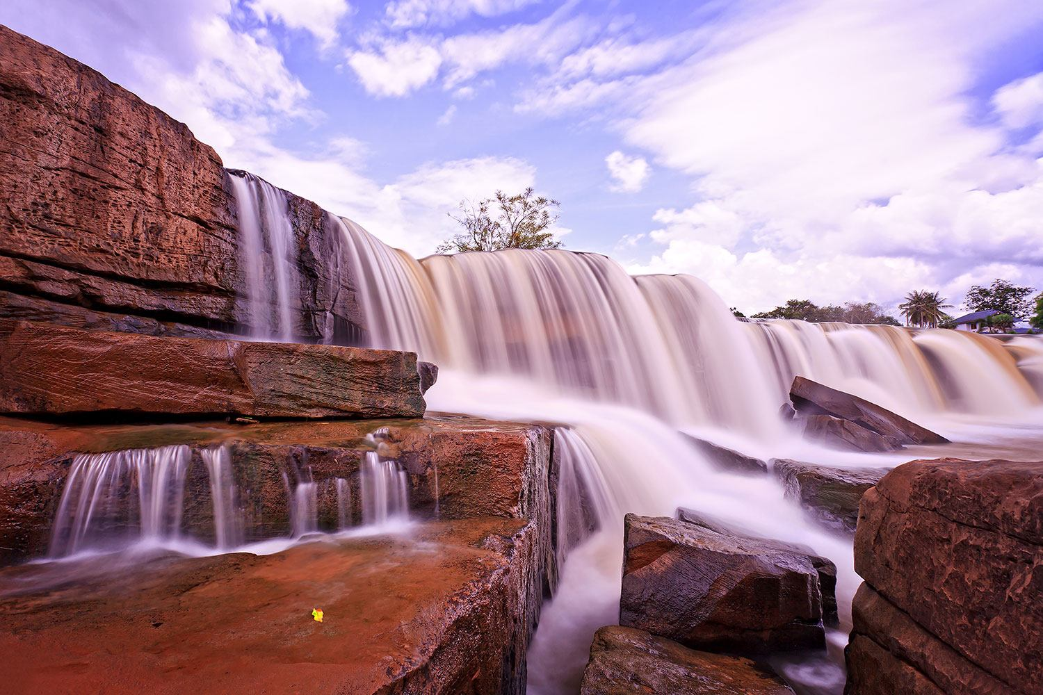 Photo Wallpaper Heavenly Waterfall