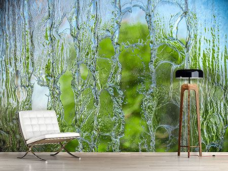 Photo Wallpaper Behind The Waterfall